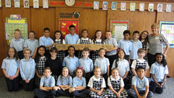 St. Jerome students offer 'change for change'