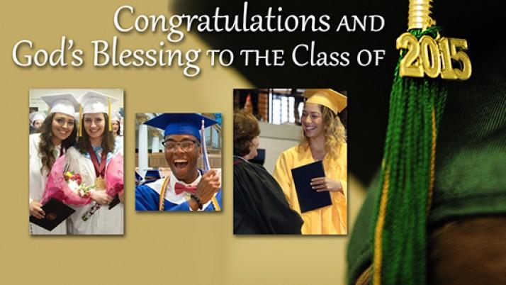 Photo galleries of 2015 Catholic high school Baccalaureate Masses & graduation ceremonies