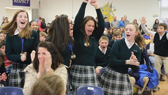 Catholic school students excel in Scholastic Olympics