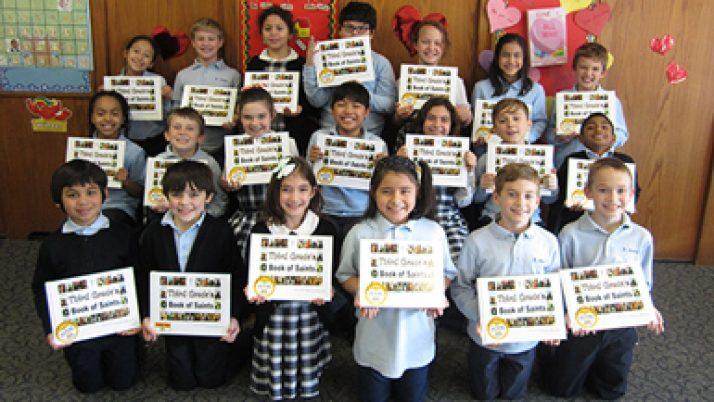 Publishing book enables students to honor saints, hone many skills