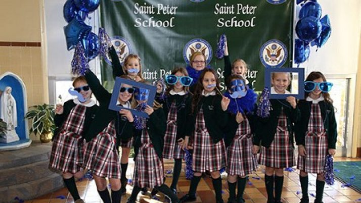 Big turnout as community joins celebration of St. Peter School's National Blue Ribbon
