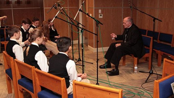 Bishop, St. Paul students record Rosary CD