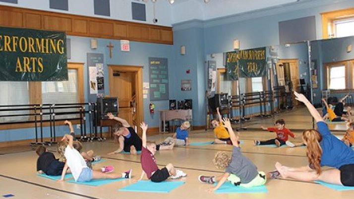 Red Bank Catholic seniors, St. James School's youngest partner in Creative Movement class