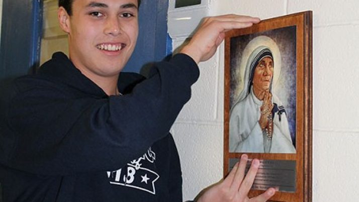 New saint plaques adorn St. Benedict School