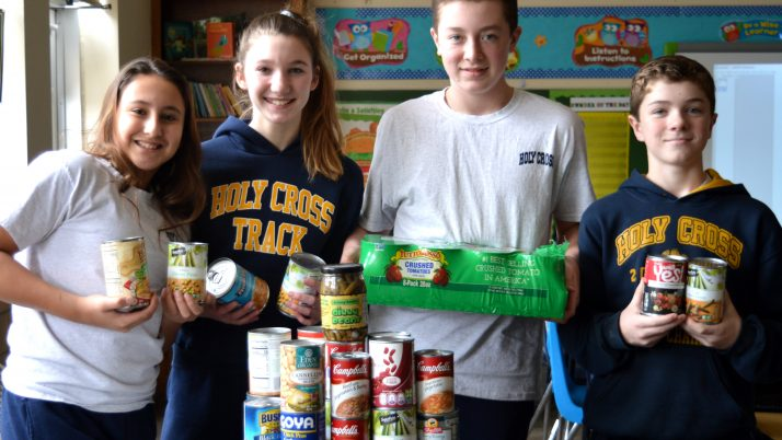 Holy Cross School helps feed area's hungry, youngsters through fundraiser