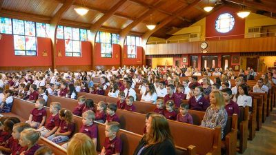 New Mother Seton Academy receives blessing from Bishop