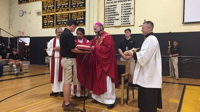 Bishop joins SJV community for Mass to kick off school's 50th year