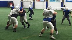 Revitalized Donovan Catholic football team is 5-0 for first time since 1992