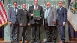 Lincroft principal accepts national award for school's environmental achievements