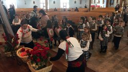St. Mary Academy students celebrate Guadalupe Feast with procession, Rosary prayers