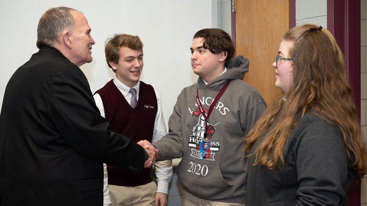 Bishop's visit brings great joy to HCPA community