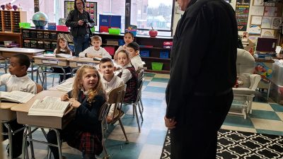 Bishop talks about Lent, apostleship during OLS School visit