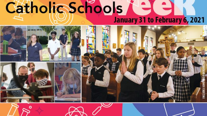 Catholic Schools Week 2021 to be celebrated Jan. 31 to Feb. 6