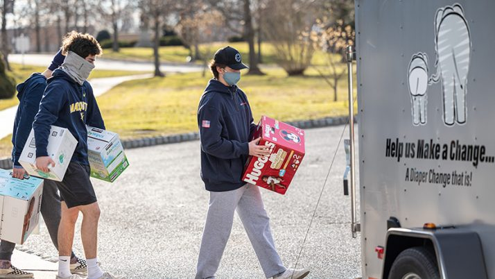 CBA students help collect baby items, serve as Respect Life champions