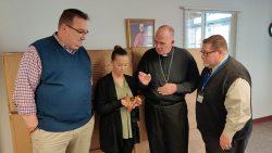 Bishop continues tradition of congratulating eighth-grade graduates